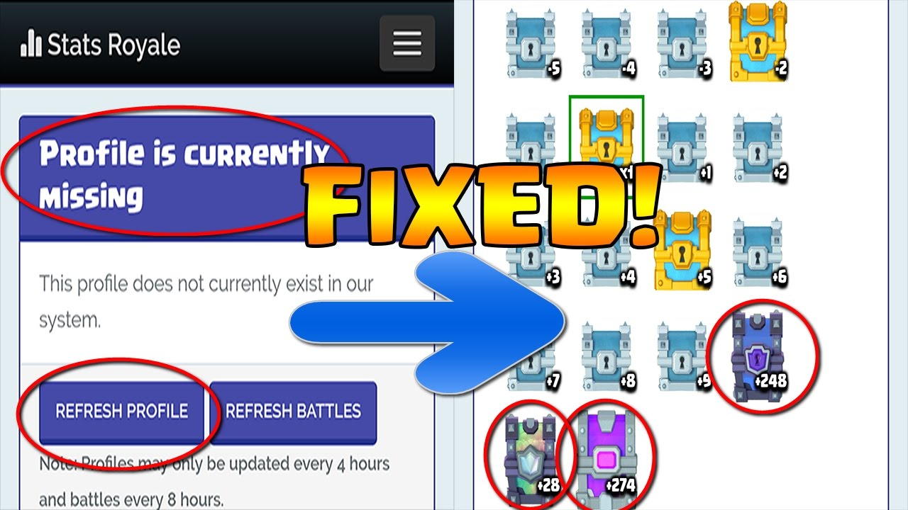 HOW TO FIX STATS ROYALE PROFILE IS MISSING? PROBLEM SOLVED ...