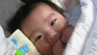 笑って喜ぶ偉吹ちゃん Ibuki with laughs