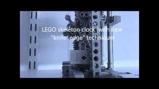 "Lego Skeleton Clock - New ""knife Edge"" Suspension Technique"