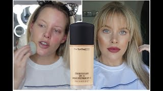 MAC Studio Fix Fluid Foundation | REVIEW & WEAR TEST | Brittany Elizabeth
