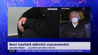 MUDr. Jaroslav Matýs, rozhovor ČT24- státní vyznamenání 2020