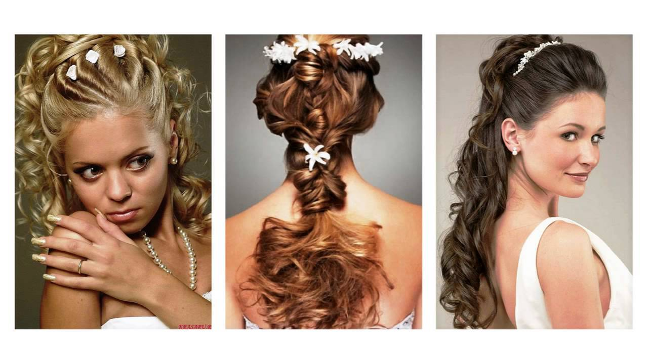 f8064284555d Svatební účesy kudrnaté vlasy - YouTube