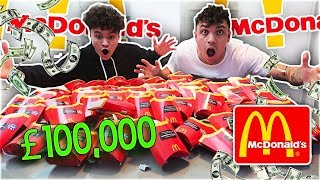100 MCDONALD'S FRENCH FRIES MONOPOLY CHALLENGE (£100,000 WIN!)