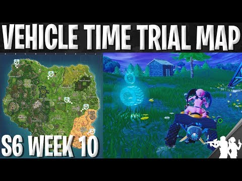 Fortnite Vehicle Time Trial Location Guide | Season 6 Week 10 Challenge Map