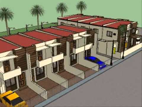 House plan designs townhouses youtube for Apartment type house plans philippines