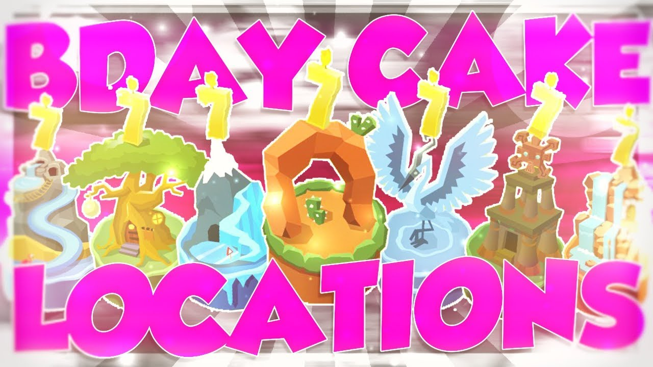 All 7th Birthday Cake Locations Animal Jam Guide Youtube