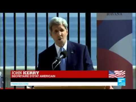 5798 politics Welt France 24 CUBA   54 ans après, le drapeau américain flotte à nouveau à La Havane
