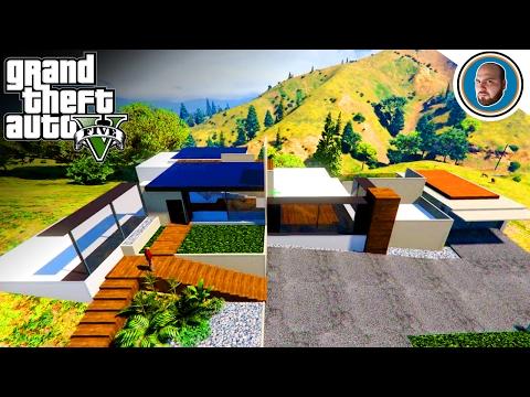 GTA 5 MOD Costruire una Villa Moderna #3 (Secondo piano e seminterrato)