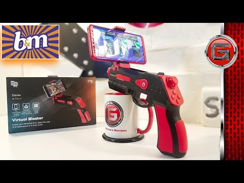 £1 Byte AR Android Game Blaster Controller Unboxing - B&M Tech Review - ARGun Game Play Review