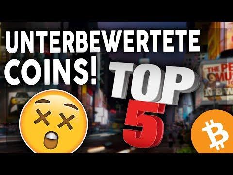 TOP 5 UNTERBEWERTETE COINS IN 2018! KRYPTOWÄHRUNG GERMAN/DEUTSCH