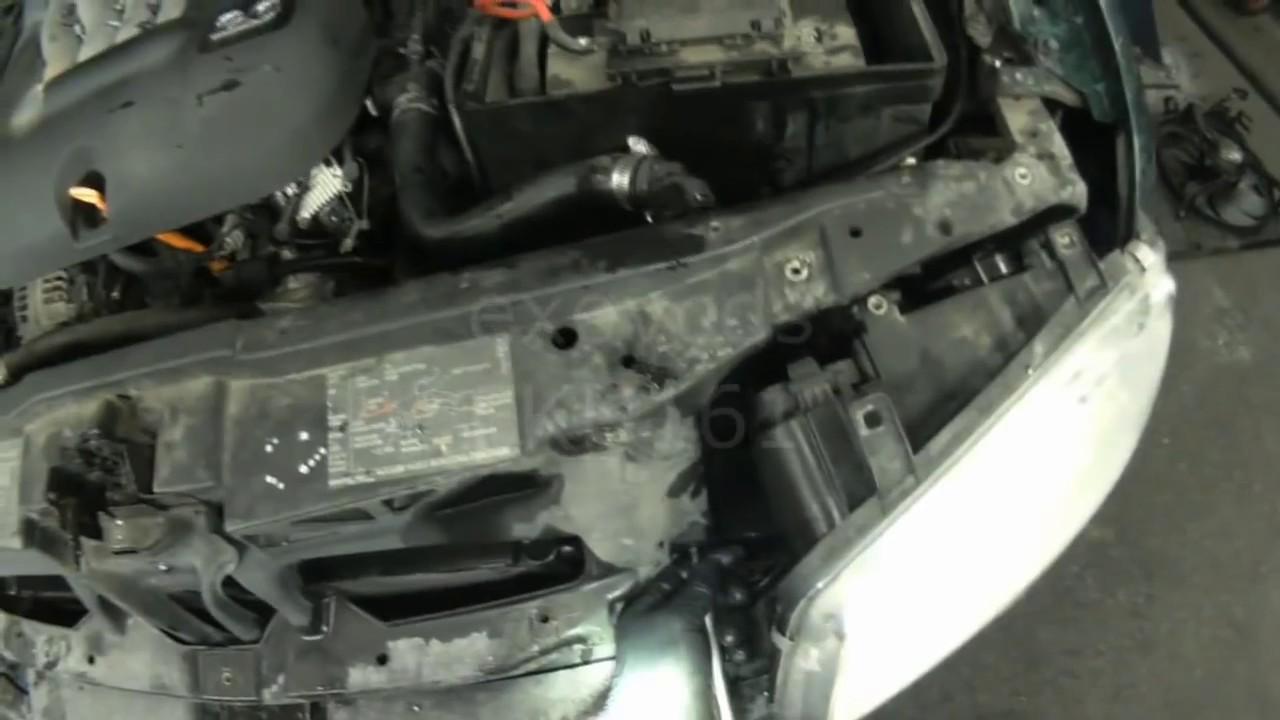vw a4 2 0l jetta radiator removal [ 1280 x 720 Pixel ]