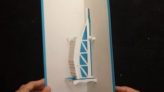 Pop Up Burj Al Arab ( برج العرب ), Dubai Card Tutorial, Origamic Architecture