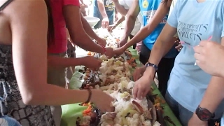 Our first Boodle Fight (Philippines Pt. 1)