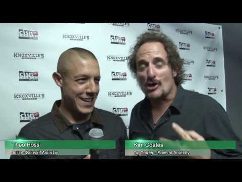 Sons of Anarchy in Edmonton: Theo Rossi and Kim Coates Blooper