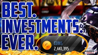 HOW I MADE OVER 2 MIL IN 2 DAYS BY INVESTING IN THESE PLAYERS!! UNREAL MADDEN MOBILE  COIN GUIDE!