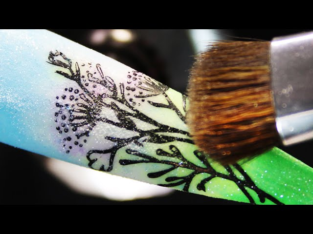 (How-To) Nature Beauty Sheer Pigment Coloring Stamping Nail Art
