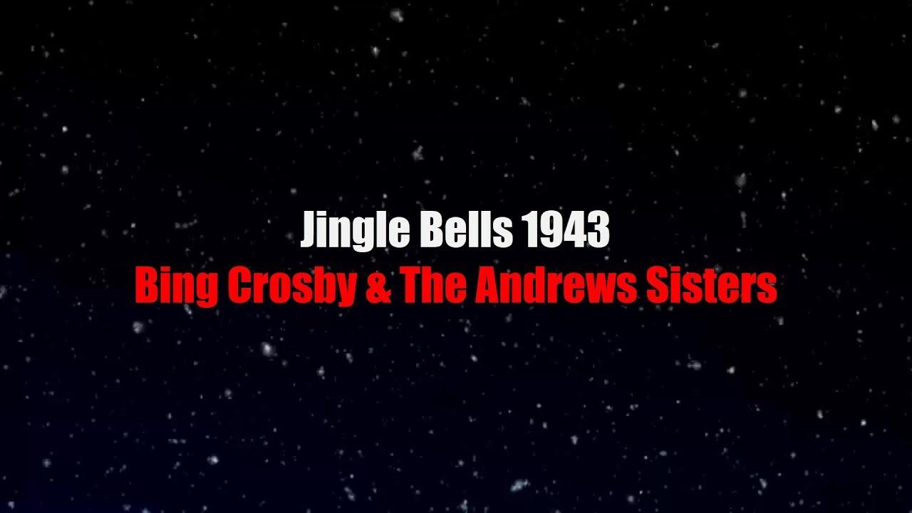 jingle bells 1943 lyrics bing crosby the andrews sisters
