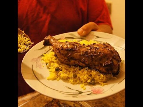 Baked Chicken & Yellow Rice - Big Recipes - E001