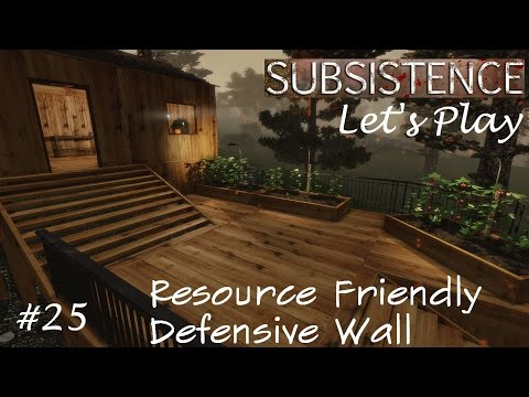 Subsistence Let's Play S1E25 Best Defensive Wall Ever! + Hunter AI Testing