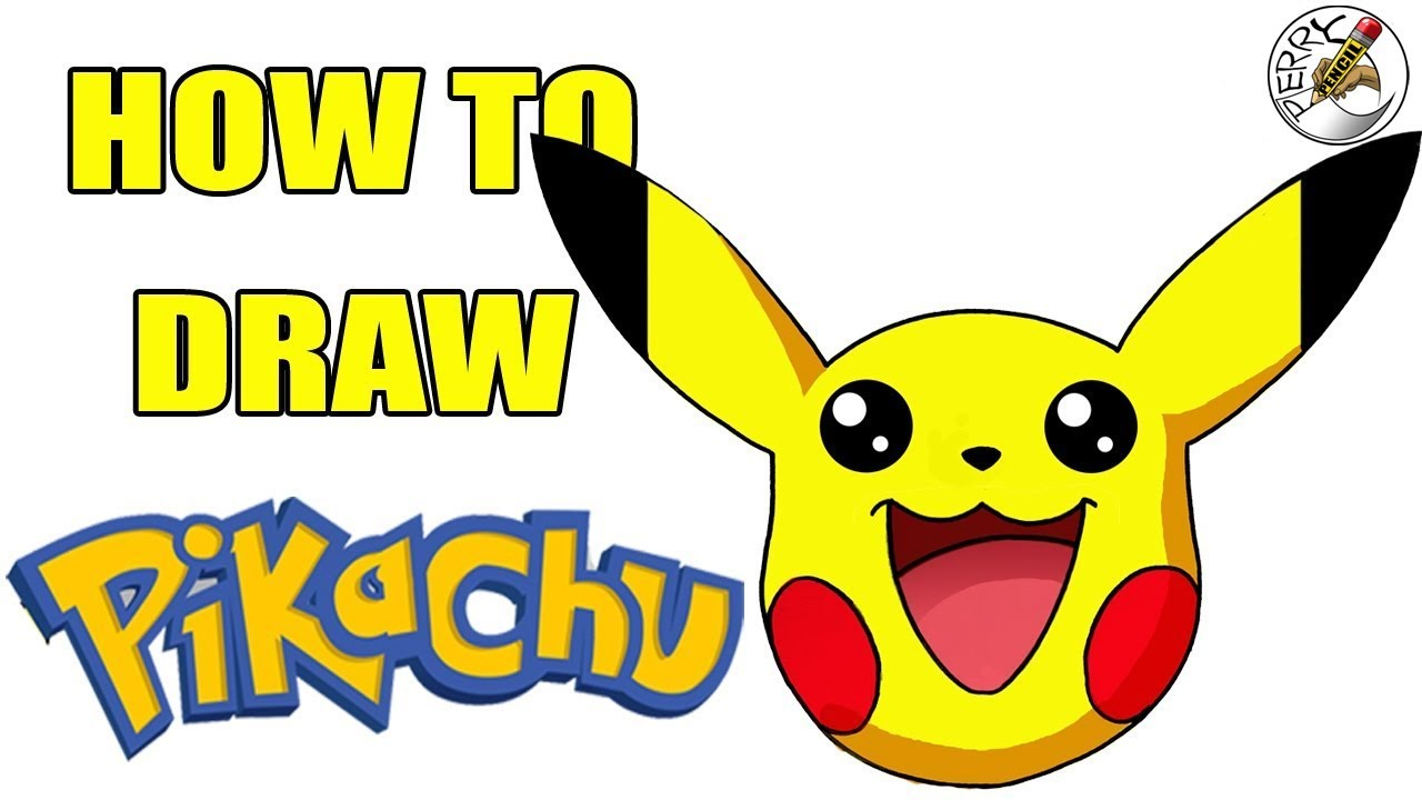 How to draw pikachu face perry pencil