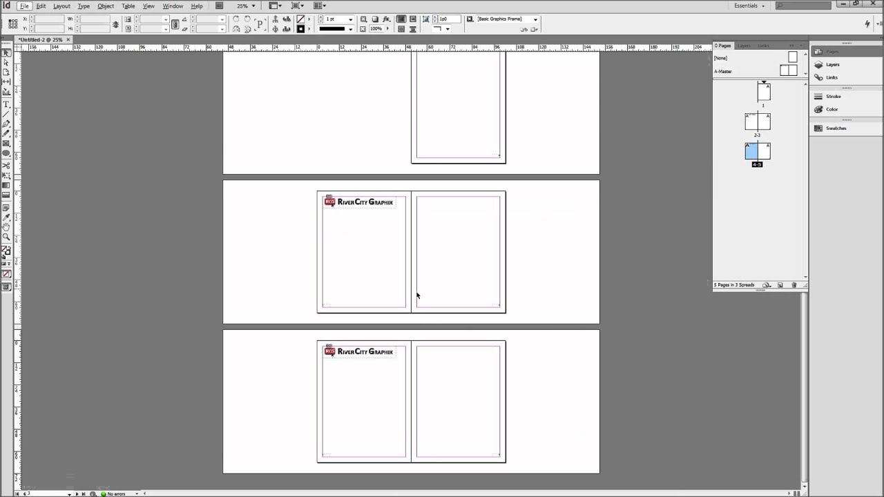 InDesign Tutorial: Using Master Pages to Create Templates -HD- - YouTube