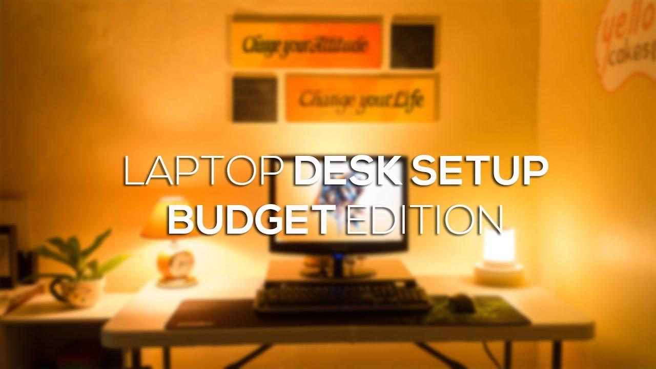 Laptop Desk Setup Budget Edition Diy Monitor Riser