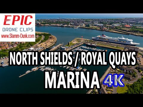 North Shields / Royal Quays Marina ⛵ Aerial Tour 🚁 (Unedited)  #EpicDroneClips No. 24