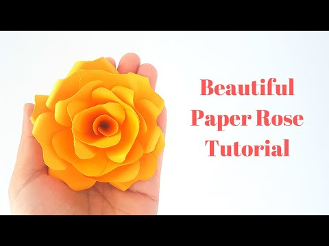 DIY Paper Rose -  Small Paper Flower Tutorial