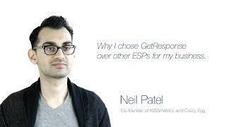 Neil Patel on choosing GetResponse for his business