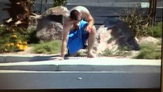 Vegas Police Subdue Crazed Man Beanbag Gun