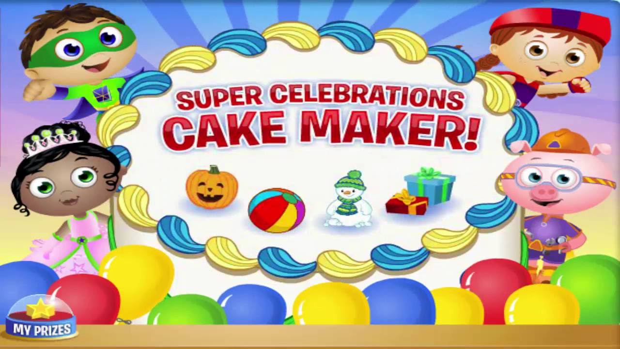 Super Why Cake Maker Birthday Party Cartoon Animation Pbs Kids Game