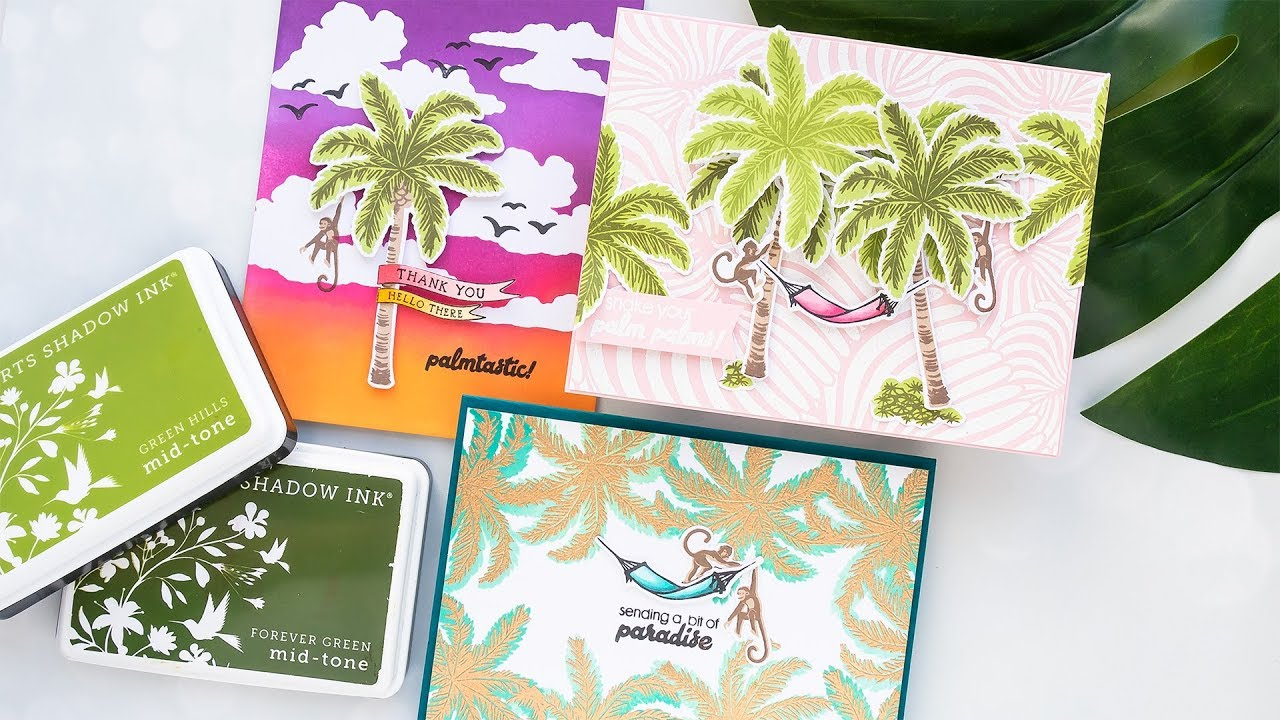PALM TREE STAMPS 3d Scrapbook Stickers