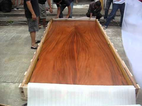 WOODWORKING PACKING PROCESS FOR LIVE EDGE SLAB TABLE FROM CHAI ALEX LIVING