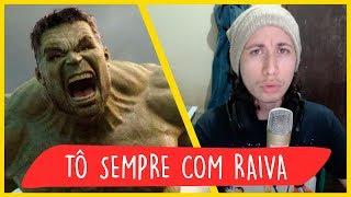 REACT Rap do Hulk - TÔ SEMPRE COM RAIVA | NERD HITS (7 Minutoz)