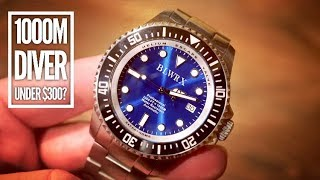 BLWRX 1000M Automatic Dive Watch Review - Rolex Deepsea Seadweller Homage - Done Right!