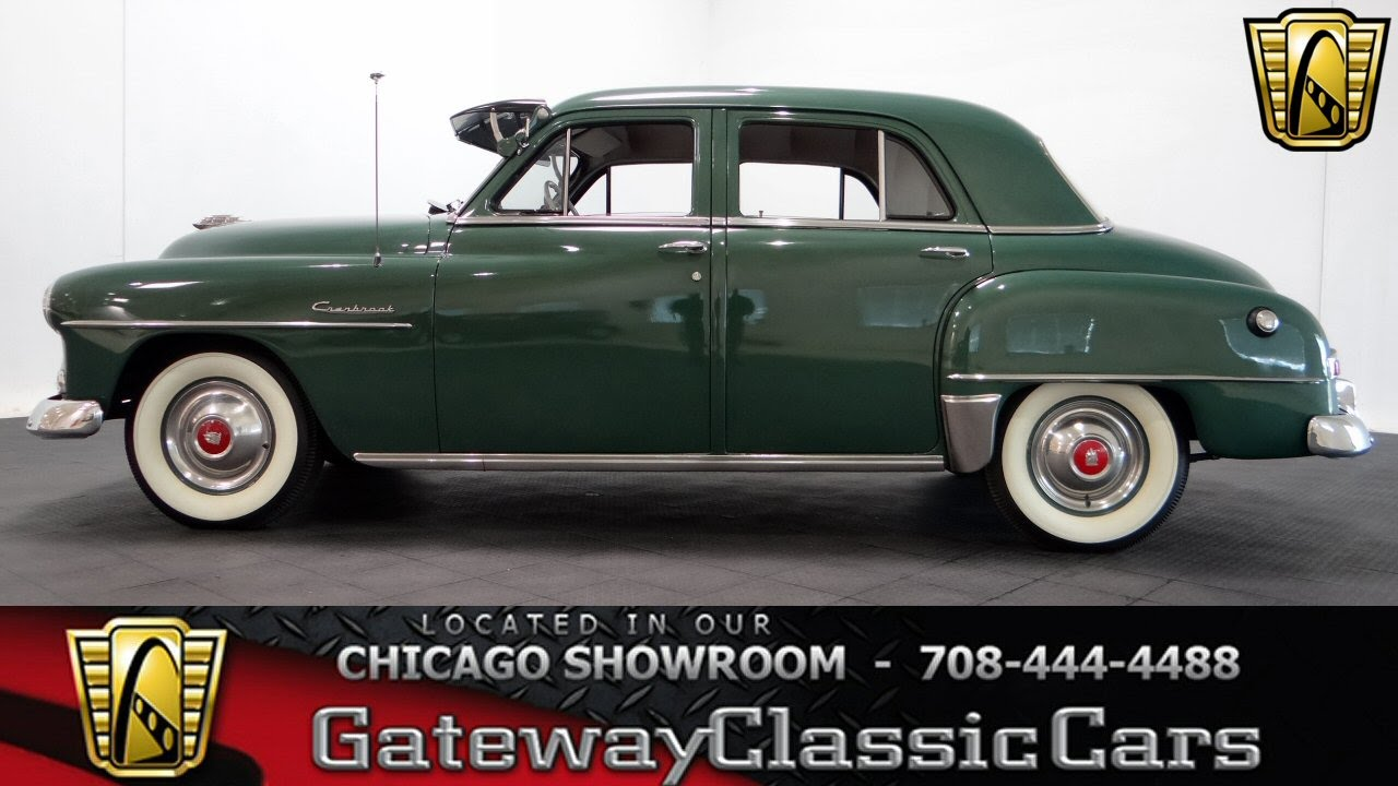 1952 Plymouth Wiring Harness Circuit Diagram Symbols Cranbrook Gateway Classic Cars Chicago 1036 Youtube Rh Com Dodge