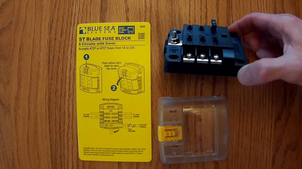 medium resolution of blue sea systems st blade fuse block 6 circuits with cover