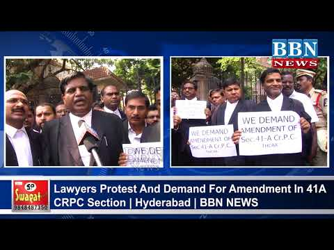 Lawyers Protest And Demand For Amendment In 41A CRPC Section | Hyderabad | BBN NEWS