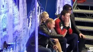 Aljona Savchenko & Bruno Massot, Worlds 2018, Kiss & Cry after LP