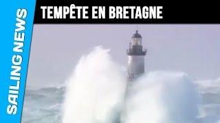 Storm op het uiterste puntje van Bretagne