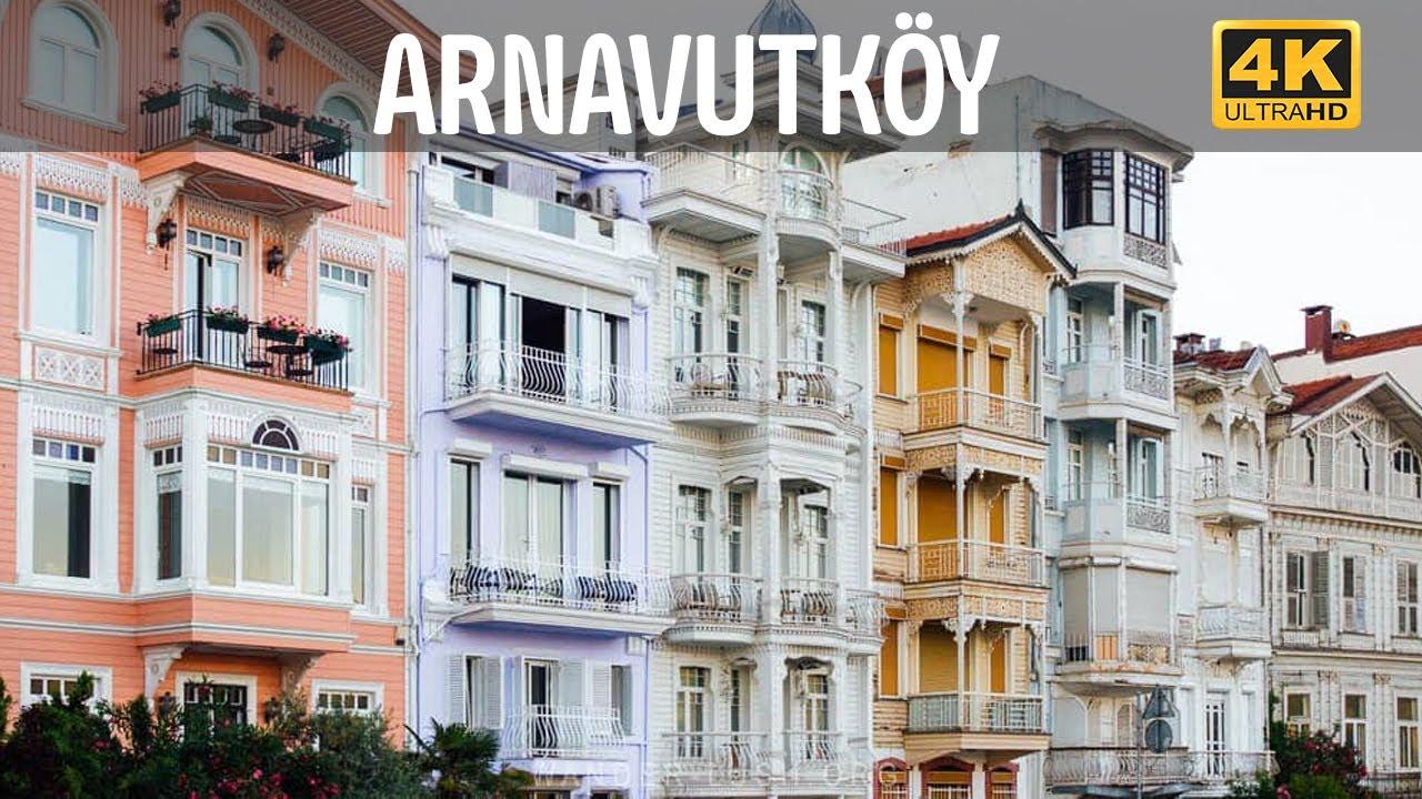 İstanbul Arnavutköy Yalıları ve Rumeli Yakası Sokaklarında Yürüyüş   İstanbul Nisan 2020   4K 60 FPS