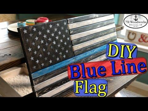 How to Build a Thin Blue Line Flag (DIY)
