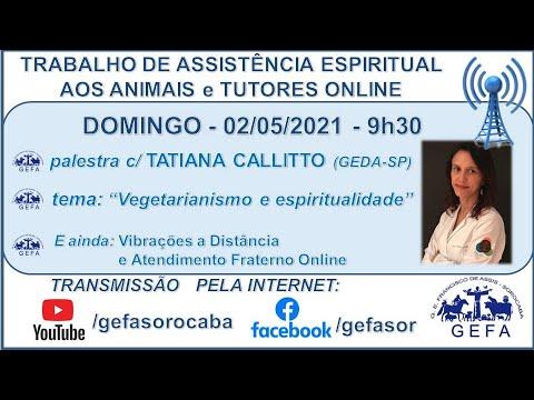 Assista: Trabalho de Assistência Espiritual aos Animais ONLINE - c/ TATIANA CALLITTO (02/05/2021)