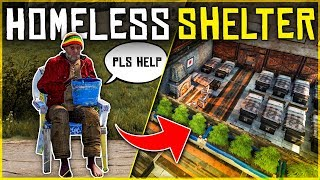 Running a HOMELESS SHELTER for NEW PLAYERS - Rust Shop Roleplay