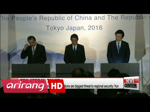 S. Korea, Japan, China vow to enhance cooperation in countering N. Korea's threats