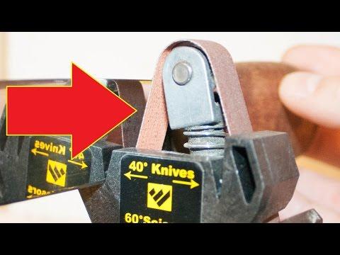 Work Sharp Knife & Tool Sharpener - How to sharpen your knife to get razor sharp blades