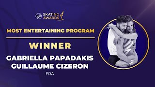Most Entertaining Program Winner Gabriella Papadakis Guillaume Cizeron ISU Skating Awards 2020