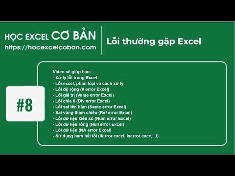 Học Excel cơ bản | #8 Lỗi thường gặp Excel