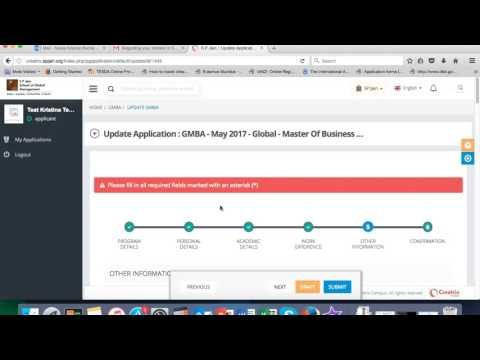 SPJAIN PG Application Process
