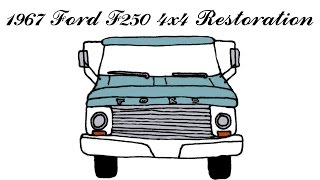 1967 Ford 4x4 Hi Boy F250 Fast Motion Restore and Prep Bed for Paint